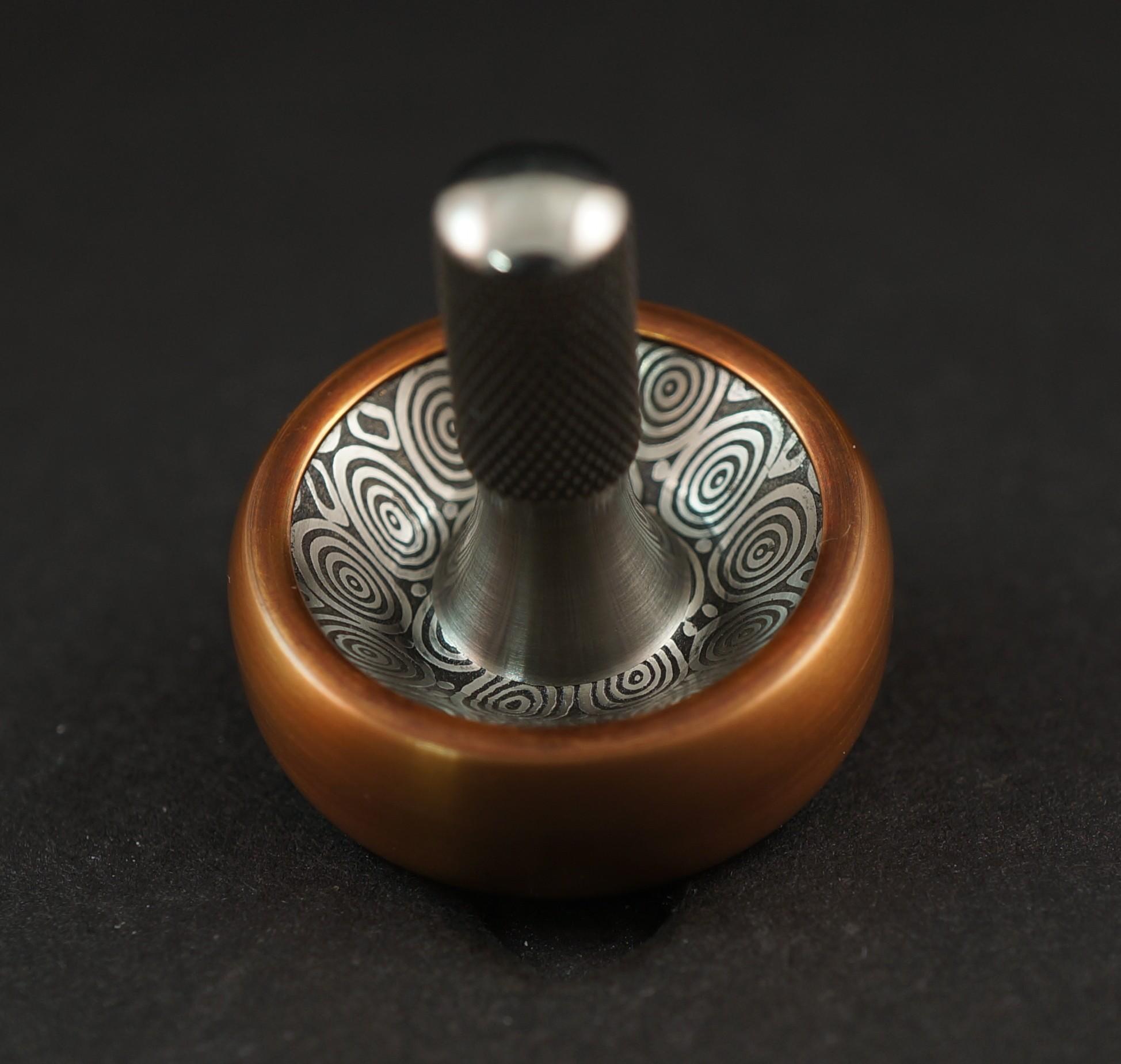 """#1281.98""""Bronze 510, Bluetongue Damasteel & Titanium  picture 2"""