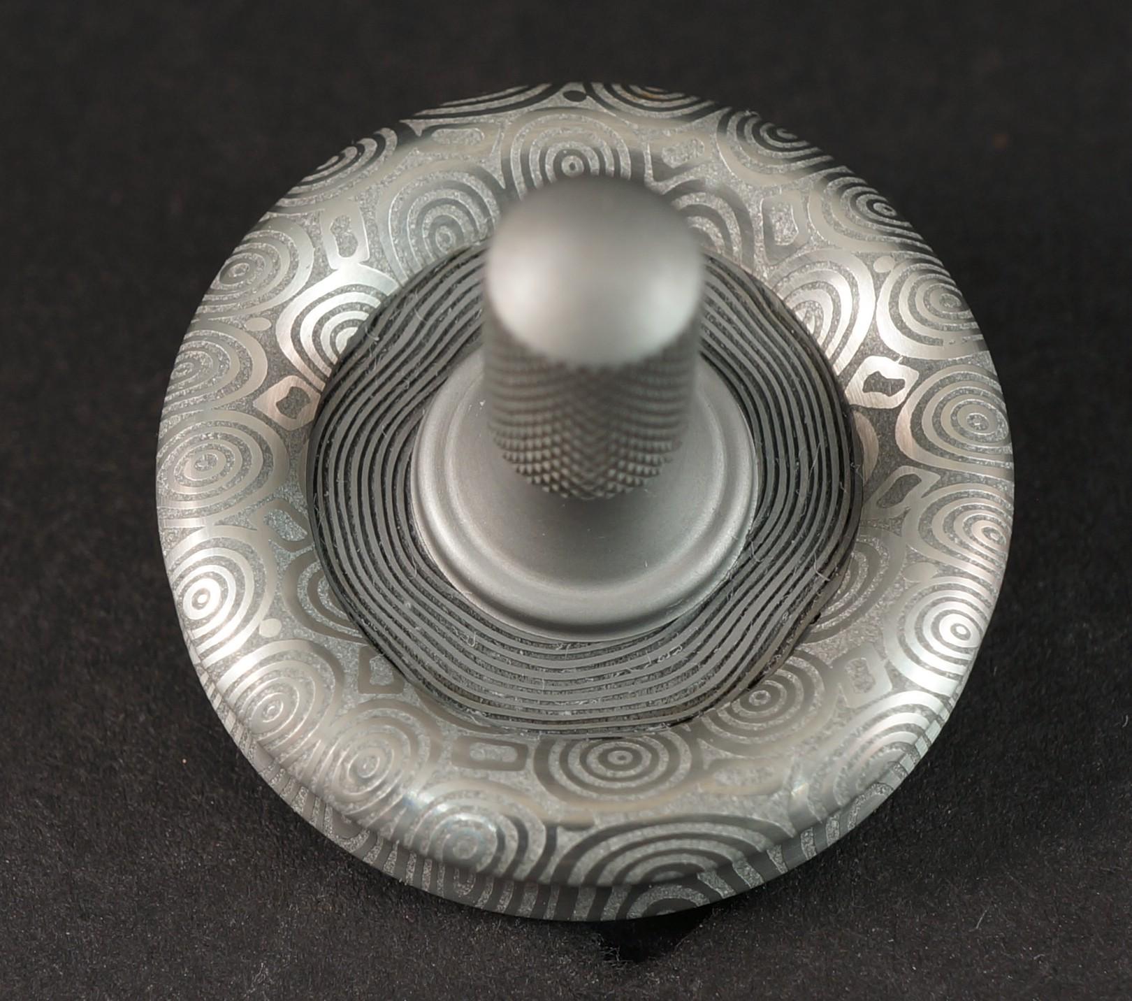 """#919 1.06"""" Fenja and Concentric Damasteel with Titanium  picture 3"""