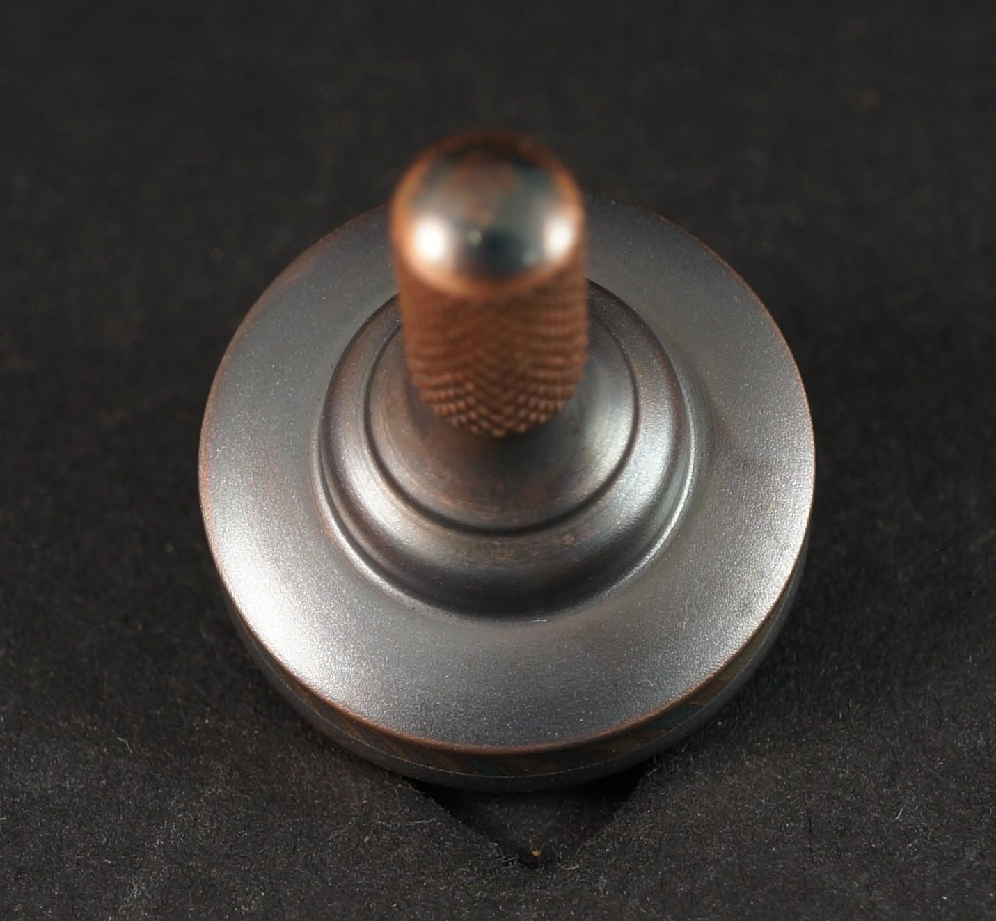 "#938 .72"" Copper 182 & Sakmar 3 Alloy Mokume UFO picture 3"