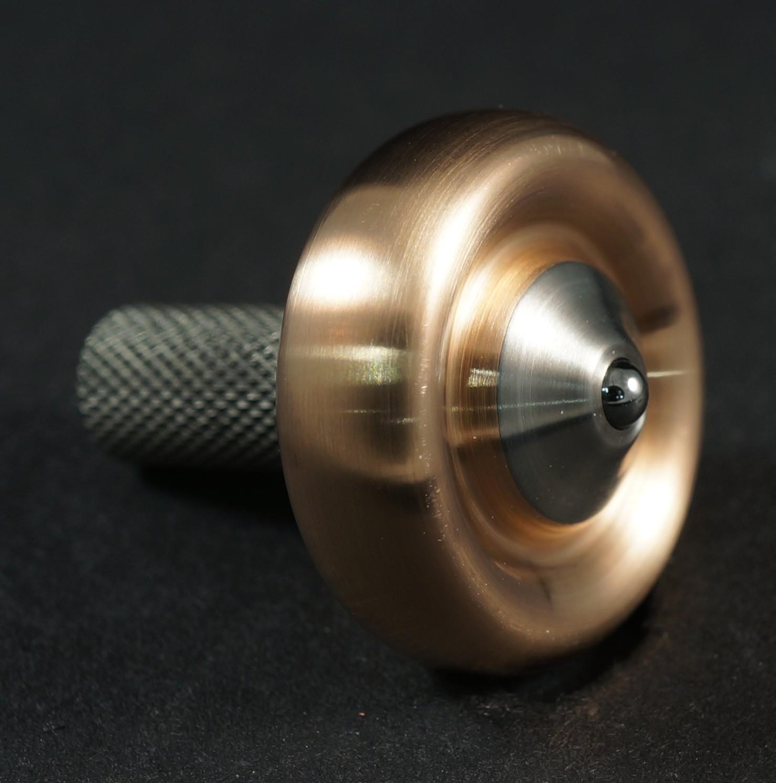 """#1096 .74"""" Bronze and titanium Donut picture 2"""