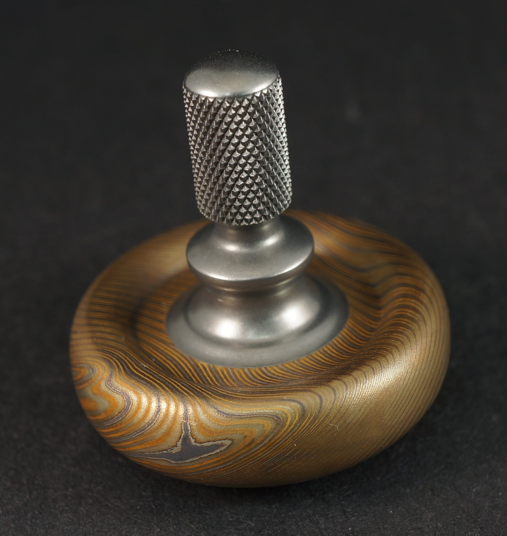 "Picture of #946 .99"" Vegas Forge 3 Alloy Mokume & Ti Donut"