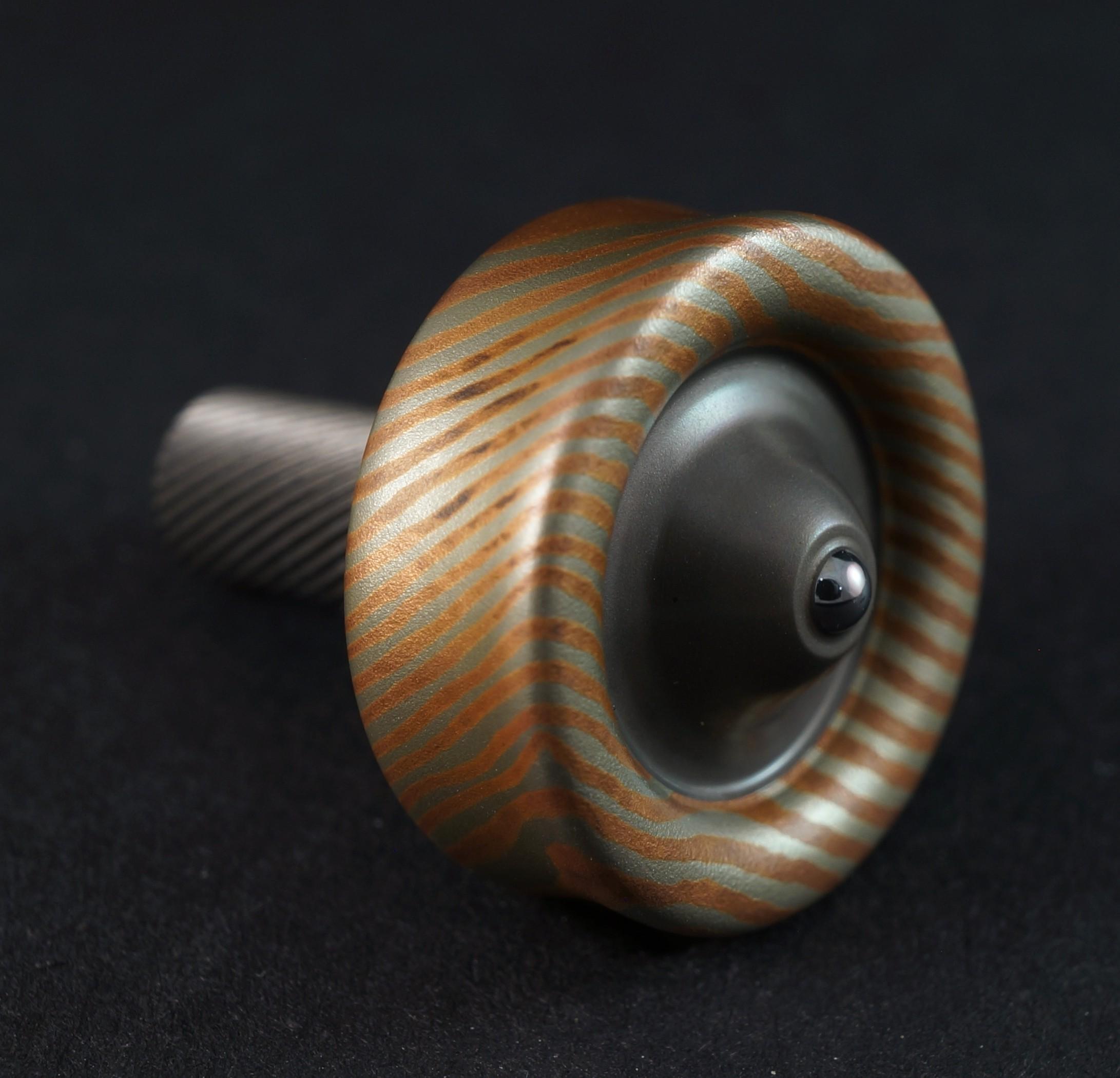 "#872 .73"" Sakmar 2 alloy mokume and titanium picture 3"
