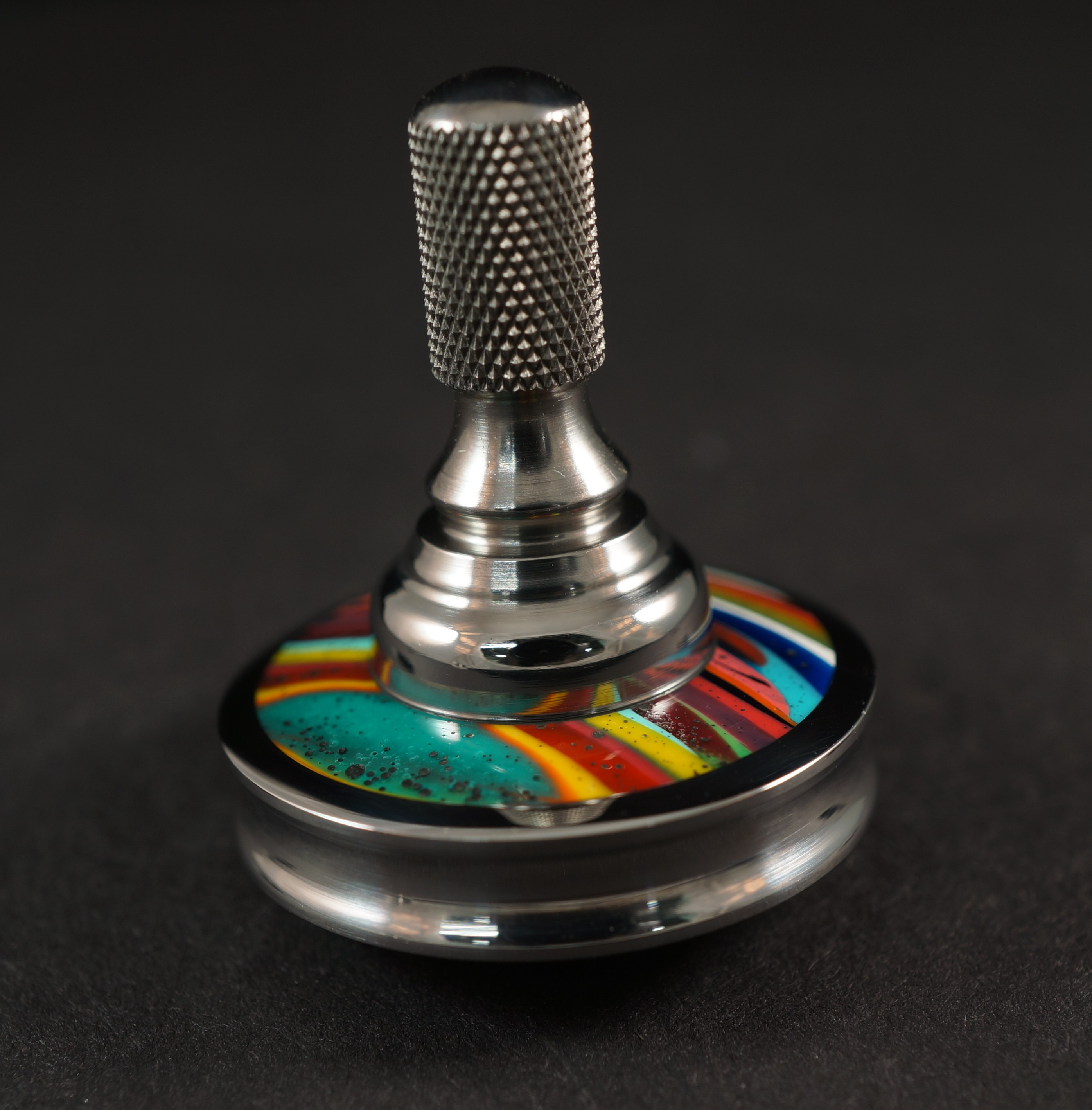 "Picture of #1024 .98"" 440c Stainless with Surfite and titanium UFO"